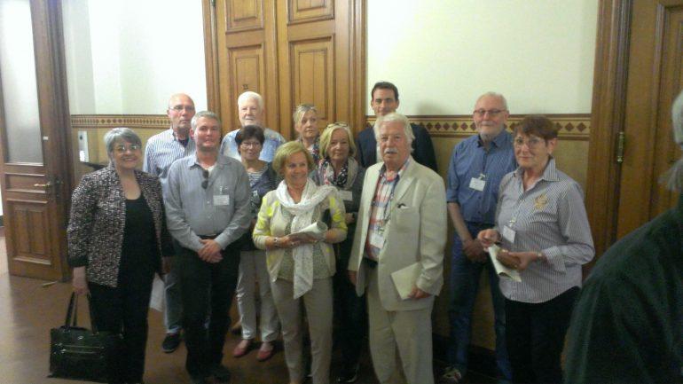 Besuchergruppe im Rathaus